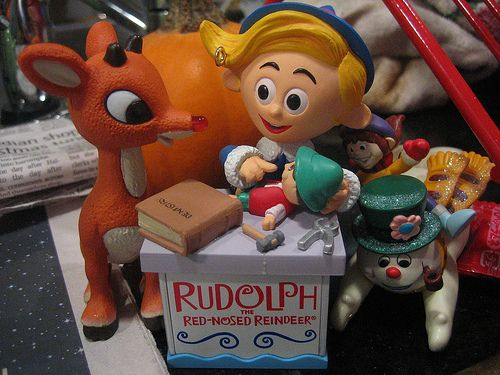 Rudolph: You wouldn't mind my - red nose? Hermey: Not if you don't mind me   being a dentist. Rudolph: [shaking hands with Hermey] It's a deal. [Rudolph