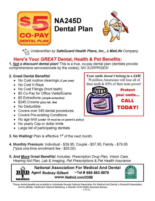 Best dental insurance 2012 find local dentist near your area for Solstice plus plan one