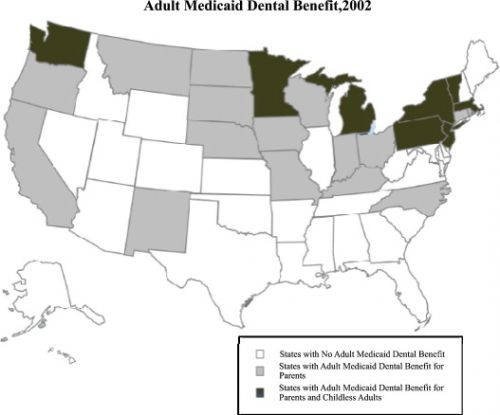 28 Aug 2012  Republican- and Democratic-controlled states alike have reduced or largely   eliminated dental coverage for adults on Medicaid, the shared