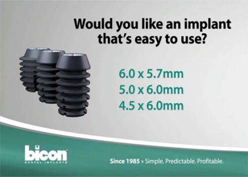 Clinically proven since 1985, Bicon's unique dental implants and revolutionary   clinical techniques have not only passed the test of time, but also continue to lead