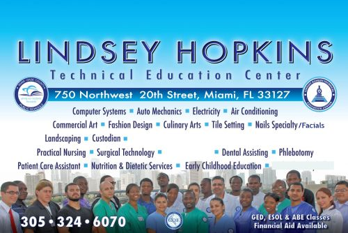 Get Lindsey Hopkins Technical Education Center information such as  Hopkins   Technical Education Center, located in Miami-Dade County, Florida.  These   include links to websites offering free math help and practice for standardized   tests